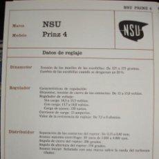 Coches y Motocicletas: SISTEMA ELECTRICO,NSU PRINZ. Lote 6480114