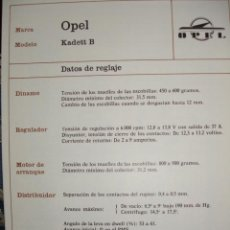 Coches y Motocicletas: SISTEMA ELECTRICO,OPEL KADETT B. Lote 6480123