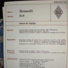 Coches y Motocicletas: SISTEMA ELECTRICO,RENAULT R6. Lote 6480157