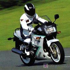 Coches y Motocicletas: FOLLETO DÍPTICO YAMAHA FZ 750 - 1991. Lote 7902481