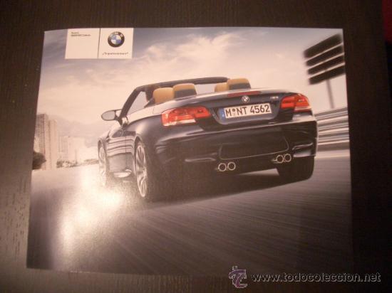 BMW M3 CABRIO 2008, CATALOGO COMERCIAL-BROCHURE (Coches y Motocicletas Antiguas y Clásicas - Catálogos, Publicidad y Libros de mecánica)