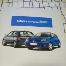Coches y Motocicletas: FOLLETO PUBLICITARIO DEL RENAULT CLIO CAMPUS 2007.. Lote 8256944