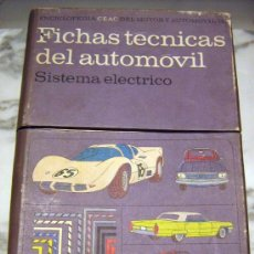 Coches y Motocicletas: + FICHAS DEL AUTOMOVIL, MAS DE 50 FICHAS TÉCNICAS DE COCHES DE PRINCIPIOS DE LOS 60. CEAC MOTOR Y. Lote 110466468