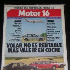Coches y Motocicletas: MOTOR 16 - Nº 52 - OCTUBRE 1984 - SEAT IBIZA 1.5 / RENAULT 25 TD / CITROEN CX / ROVER TD. Lote 17702512