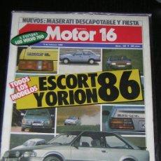 Coches y Motocicletas: MOTOR 16 - Nº 120 - FEBRERO 1986 - FORD ESCORT / VOLVO 700 / MASERATI DESCAPOTABLE / FORD FIESTA. Lote 27815431