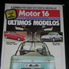 Voitures et Motocyclettes: MOTOR 16 - Nº 125 - MARZO 1986 - VOLKSWAGEN GOLF GTI 16V / ALFA SPIDER / ASTON MARTIN. Lote 17702471