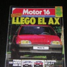 Automobili e Motociclette: MOTOR 16 Nº 175 - FEBRERO 1987 - LANCIA DELTA HF TURBO / ALFA 75 / RENAULT 9 GTC / FIAT REGATA 70. Lote 40785106