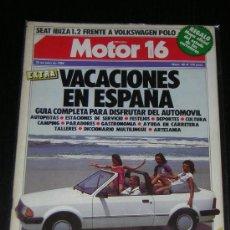 Coches y Motocicletas: MOTOR 16 Nº 40 - JULIO 1984 - SEAT IBIZA 1.2 / VW POLO / EXTRA VACACIONES. Lote 9128767