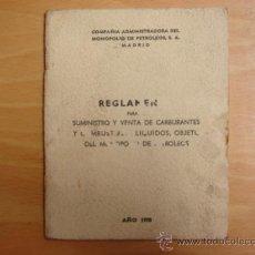 Coches y Motocicletas: REGLAMENTO CAMPSA 1970 .. Lote 9299013