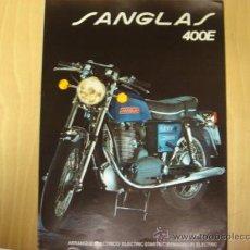 Coches y Motocicletas - CATALOGO TECNICO ORIGINAL DESPLEGABLE MOTOCICLETA SANGLAS 400 E 1973 - 39362929