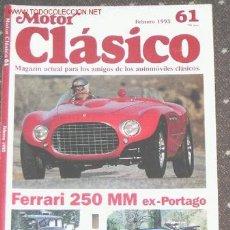 Coches y Motocicletas: MOTOR CLASICO Nº 61 - FERRARI 250 MM EX PORTAGO - LANCIA AUGUSTA - ABC 500 - BISCUTER 200 R. Lote 24881812