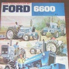 Coches y Motocicletas: FORD TRACTOR 6600 - CATALOGO PUBLICITARIO ORIGINAL - ESPAÑOL. Lote 22076482