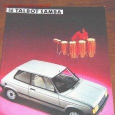 Coches y Motocicletas: TALBOT SAMBA - CATALOGO PUBLICIDAD ORIGINAL - 1984 - HOLANDA. Lote 6509453
