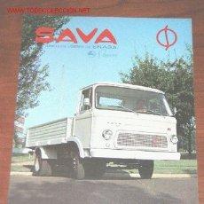 Coches y Motocicletas: SAVA PEGASO CAMION S-311 - CATALOGO PUBLICIDAD ORIGINAL - 1972 - ESPAÑOL. Lote 26084225