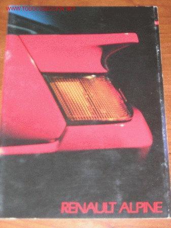 RENAULT ALPINE GT V6 TURBO - CATALOGO PUBLICIDAD ORIGINAL - FRANCES (Coches y Motocicletas Antiguas y Clásicas - Catálogos, Publicidad y Libros de mecánica)