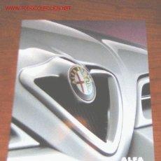 Coches y Motocicletas: ALFA ROMEO 166 - CATALOGO PUBLICIDAD ORIGINAL - 2000 - ALEMAN. Lote 6487758