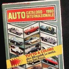 Coches y Motocicletas: AUTO CATALOGO INTERNAZIONALE 1980. Lote 2334239