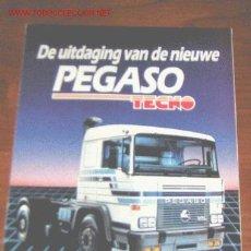 Coches y Motocicletas: PEGASO TECNO CAMION - CATALOGO PUBLICIDAD ORIGINAL - HOLANDES. Lote 27815911
