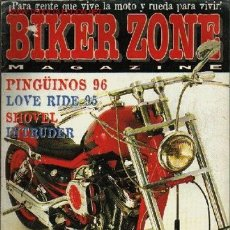 Coches y Motocicletas: BIKER ZONE MAGAZINE Nº 31. PINGÜINOS 96. LOVE RIDE 95. SHOVEL. INTRUDER. SPORTERS SUECA. GOD OR DEVI. Lote 15403819