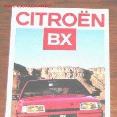 Coches y Motocicletas: CITROEN BX - CATALOGO PUBLICIDAD ORIGINAL - 1986 - FRANCES. Lote 17988381