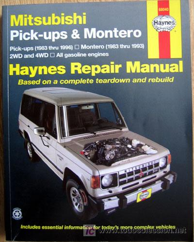 MITSUBISHI PICK-UPS & MONTERO (1986/96) & (1983/93). HAYNES REPAIR MANUAL - TEXTO EN INGLÉS. (Coches y Motocicletas Antiguas y Clásicas - Catálogos, Publicidad y Libros de mecánica)