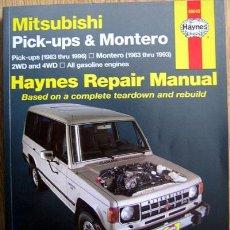 Coches y Motocicletas: MITSUBISHI PICK-UPS & MONTERO (1986/96) & (1983/93). HAYNES REPAIR MANUAL - TEXTO EN INGLÉS.. Lote 27616598