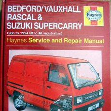 Coches y Motocicletas: BEDFORD / VAUXHALL RASCAL & SUZUKI SUPERCARRY. HAYNES SERVICE AND REPAIR MANUAL- TEXTO EN INGLÉS.. Lote 26997722