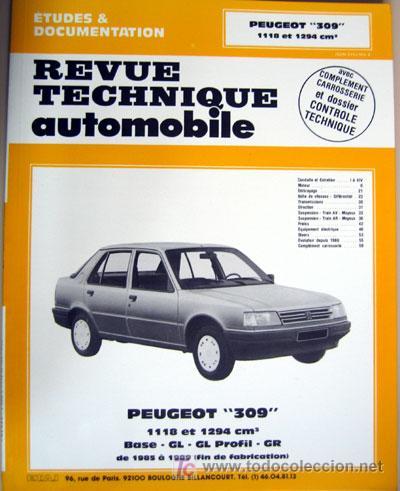 peugeot 309 manual de taller revue techniqu comprar cat logos rh todocoleccion net Peugeot 206 Peugeot Toy Car