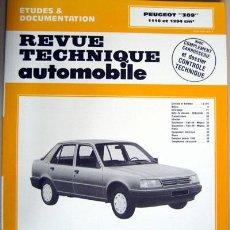 Coches y Motocicletas: PEUGEOT 309 - MANUAL DE TALLER - REVUE TECHNIQUE AUTOMOBILE -E.T.A.I. - TEXTO EN FRANCÉS.. Lote 26764019