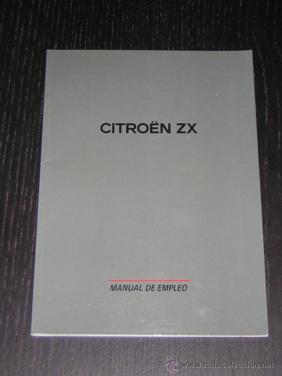 Citroen Zx - Manual Usuario Original - Espa U00f1ol