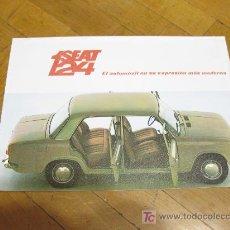 Coches y Motocicletas: CATALOGO DE VENTA DEL SEAT 124. . 1968.. Lote 24138778