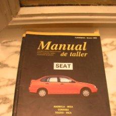 Coches y Motocicletas: SEAT MARBELLA, IBIZA, CORDOBA ,TOLEDO, INCA. MANUAL DE TALLER, DESCRIPCION PIEZAS Y PRECIOS. 1998.. Lote 13157848