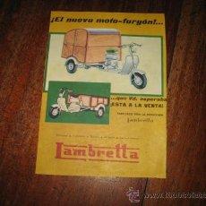 Coches y Motocicletas: LAMBRETTA PUBLICIDAD. Lote 10357576