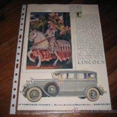Coches y Motocicletas: LINCOLN VER FOTOS. Lote 13816265