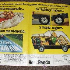Coches y Motocicletas: PUBLICIDAD DEL SEAT PANDA . . Lote 10639004