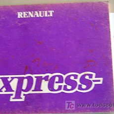 Coches y Motocicletas: RENAULT EXPRESS - 1988 - TODA LA GAMA - MANUAL INSTRUCCIONES USUARIO, TEXTO EN ESPAÑOL.. Lote 19853018