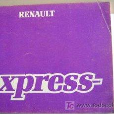 Coches y Motocicletas: RENAULT EXPRESS - 1988 - TODA LA GAMA - MANUAL INSTRUCCIONES USUARIO, TEXTO EN ESPAÑOL.. Lote 19853019