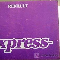 Coches y Motocicletas: RENAULT EXPRESS - 1988 - TODA LA GAMA - MANUAL INSTRUCCIONES USUARIO, TEXTO EN ESPAÑOL.. Lote 19853020