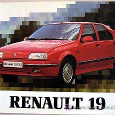 Coches y Motocicletas: RENAULT 19 - 1991 - TODA LA GAMA - MANUAL INSTRUCCIONES USUARIO, TEXTO EN ESPAÑOL.. Lote 26922718