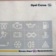 Coches y Motocicletas: OPEL CORSA - 1994 - TODA LA GAMA - MANUAL INSTRUCCIONES USUARIO, TEXTO EN ESPAÑOL.. Lote 13695363