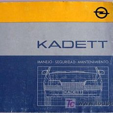 Coches y Motocicletas: OPEL KADETT - 1986 - TODA LA GAMA - MANUAL INSTRUCCIONES USUARIO, TEXTO EN ESPAÑOL.. Lote 13832572