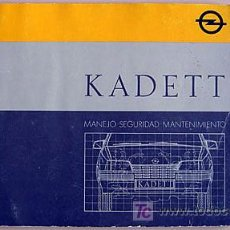 Coches y Motocicletas: OPEL KADETT - 1987 - TODA LA GAMA - MANUAL INSTRUCCIONES USUARIO, TEXTO EN ESPAÑOL.. Lote 13832574