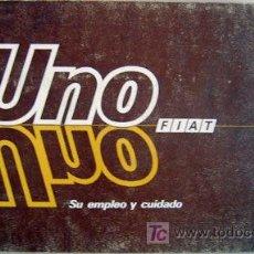 Coches y Motocicletas: FIAT UNO - 1986 - TODA LA GAMA - MANUAL INSTRUCCIONES USUARIO, TEXTO EN ESPAÑOL.. Lote 19667932