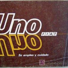 Coches y Motocicletas: FIAT UNO - 1987 - TODA LA GAMA - MANUAL INSTRUCCIONES USUARIO, TEXTO EN ESPAÑOL.. Lote 19667933