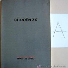 Coches y Motocicletas: CITROËN ZX - 2002 - TODA LA GAMA - MANUAL INSTRUCCIONES USUARIO, TEXTO EN ESPAÑOL.. Lote 13846332