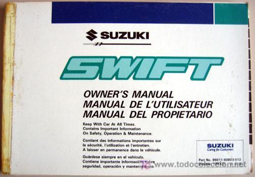 suzuki swift 1993 toda la gama manual ins comprar cat logos rh todocoleccion net 1994 Suzuki Swift 1994 Suzuki Swift