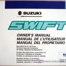 Coches y Motocicletas: SUZUKI SWIFT - 1993 - TODA LA GAMA - MANUAL INSTRUCCIONES USUARIO, TEXTO EN ESPAÑOL, INGLÉS, FRANCÉS. Lote 25966958