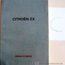 Coches y Motocicletas: CITROËN ZX - TODA LA GAMA - MANUAL INSTRUCCIONES USUARIO, TEXTO EN ESPAÑOL. . Lote 13846333