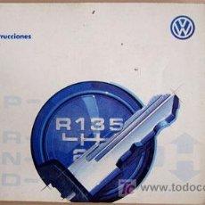 Coches y Motocicletas: VOLKSWAGEN PASSAT - 1996 - TODA LA GAMA - MANUAL INSTRUCCIONES USUARIO, TEXTO EN ESPAÑOL. . Lote 22056031