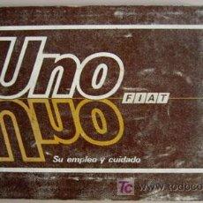Coches y Motocicletas: FIAT UNO - 1988 - TODA LA GAMA - MANUAL INSTRUCCIONES USUARIO, TEXTO EN ESPAÑOL. . Lote 19667927